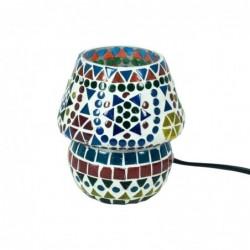Lampara Decorativa Pequeña Seta Ambiental Cristales Colores Ambiente Etnico 13 cm