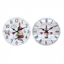 Reloj Pared Surtido Botella Vino 34 cm (1 unidad)