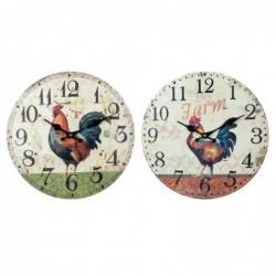 Reloj Pared Surtido Gallo Rustico 34 cm (1 unidad)