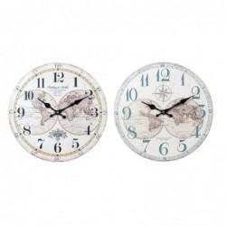 Reloj Pared Surtido Mapa Mundi 34 cm (1 unidad)