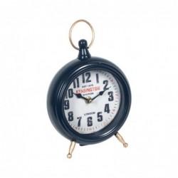 Reloj Sobremesa Metalico Mesa Mapa Mundi 26 cm
