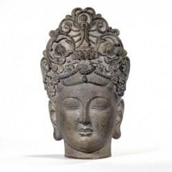 Figura Decorativa Cabeza Buda Resina 24 cm