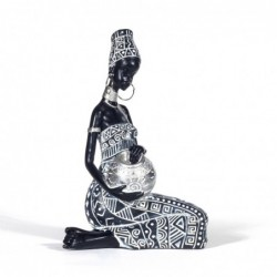 Figura Decorativa Mujer Africana Resina 20 cm