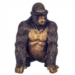 Figura Decorativa Resina Orangutan Bronce 23 cm