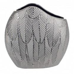 Jarron Decorativo Ceramica Gris 25 cm