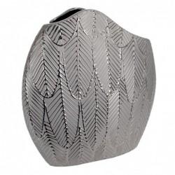 Jarron Decorativo Ceramica Gris 29 cm