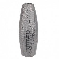 Jarron Decorativo Ceramica Gris 30 cm