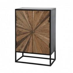 Mueble de 2 Puertas de Madera y Metal 105 cm