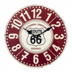 Reloj Pared Decorativo Vintage Ruta 66 Metalico 34 cm