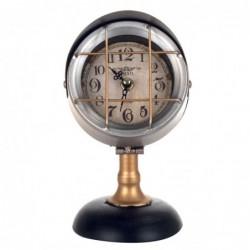 Reloj Sobremesa Decorativo Foco Vintage Metálico 23 cm