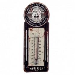 Termómetro Pared Ruta 66 Vintage Negro 29 cm