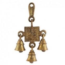 Movil 3 Campanas Ganesha Metal 16 cm
