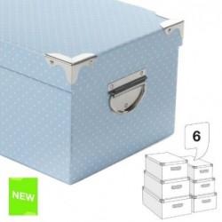 Juego 6 Cajas Carton  Topos