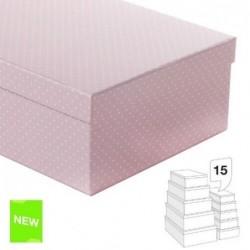Juego 15 Cajas Carton  Topos