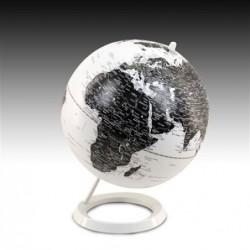 Globo Terraqueo 25 cm diametro Blanco