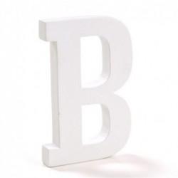 Letra Madera Blanca B 12 cm