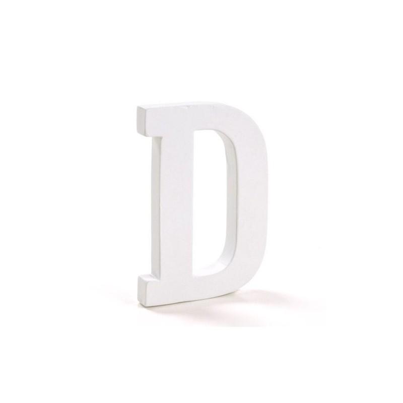 Letra Madera Blanca D 12 cm