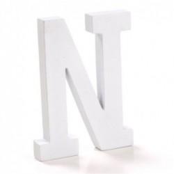 Letra Madera Blanca N 12 cm