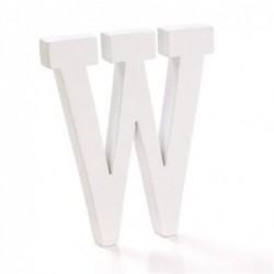 Letra Madera Blanca W 12 cm