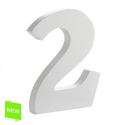 Numero Madera Blanca 2