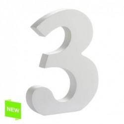 Numero Madera Blanca 3