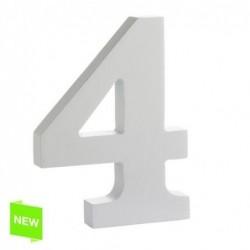 Numero Madera Blanca 4