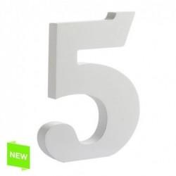 Numero Madera Blanca 5