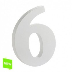 Numero Madera Blanca 6