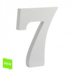 Numero Madera Blanca 7