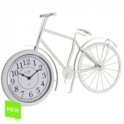 Reloj Forma de Bici Crema 49x32 cm