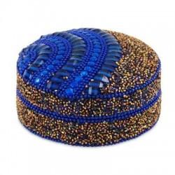 Caja REdonda Azul 10 cm