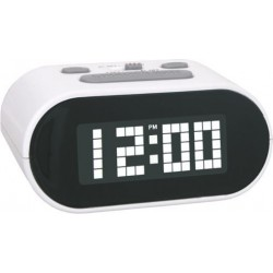 Reloj despertador ovalado luminoso con led