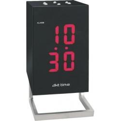 Reloj LED con alarma y lámpara exterior.