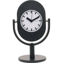 Reloj Despertador Negro Analogico