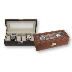 Caja 6 relojes Marron Oscuro