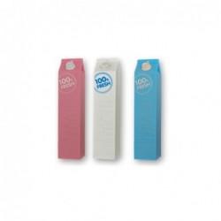 Bateria Externa Milk 2600MAh Colores Surtidos