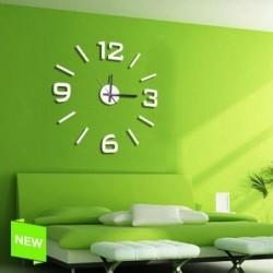 Reloj De Pared Numeros Adhesivos Blanco