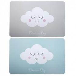 Mantel Individual x2 Modelos Nubes