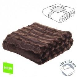 Mantel Pelo Rayas 125x170 cm Algodón Choco