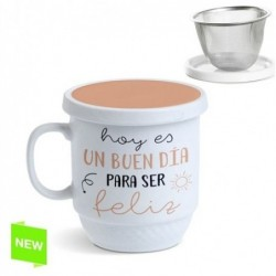 Taza Tisana Con Filtro Frase