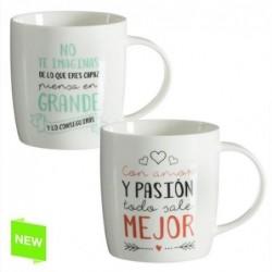 Mug x2 Modelos Frases Positivas