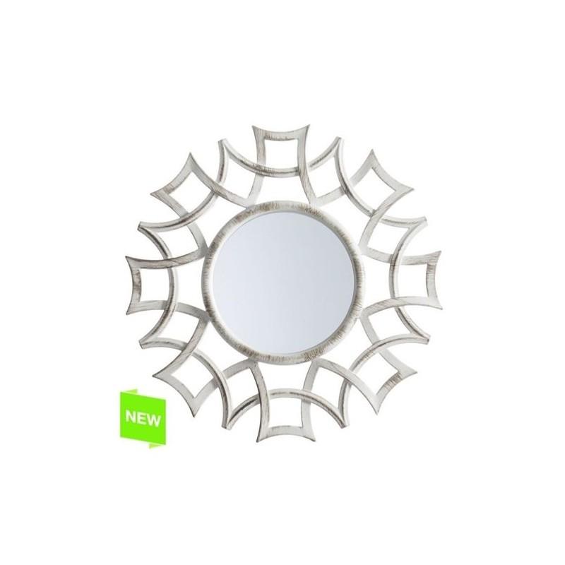 Espejo Pared Decorado Crema 39 cm
