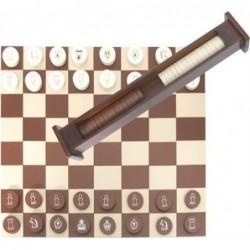 Tablero ajedrez plegable. Incluye ajedrez y damas.
