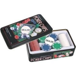 Estuche 100 fichas Poker 4