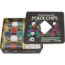 Estuche 100 fichas poker (4