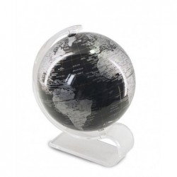 Globo Terraqueo Negro 13 cm