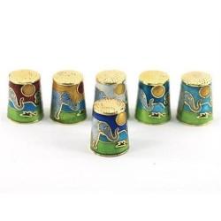Dedales x6 Decorativos Elefantes