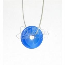 Donut Peque?o Agata Azul para Colgante