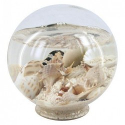 Bola Marina Decorada Grande Cristal 14 cm